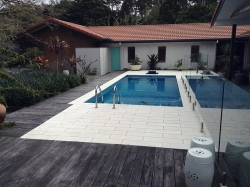 Swimming Pool and deck at Fernleigh, NSW