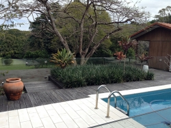 Sanctum Landscaping and Swimming Pool design at home in Fernleigh Road, Fernleigh, NSW