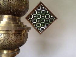 Moroccan style window design at home in Fernleigh